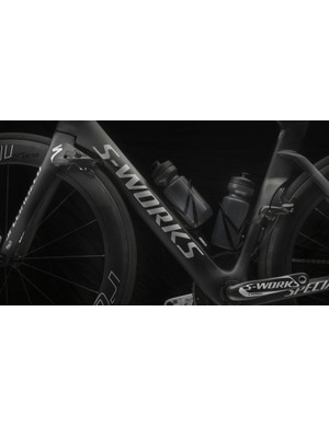 Elements of the frame shape certainly have been seen on competitors' bikes, but the brakes have not