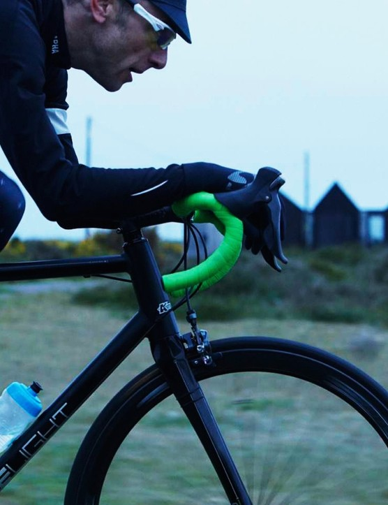 Fabric's new bottle hangs on bolts - no cage needed