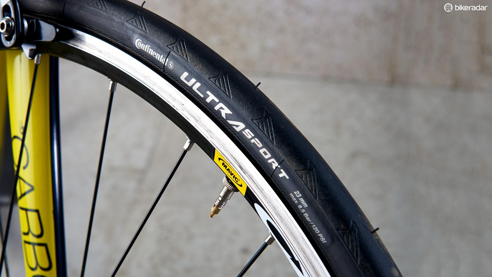 The 25mm Continental Ultra Sport tyres proved to be impressive performers