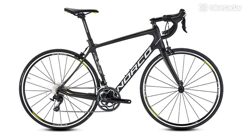 0e5af57cc46 Norco's Valence 105 road bike features a steeply sloping top tube