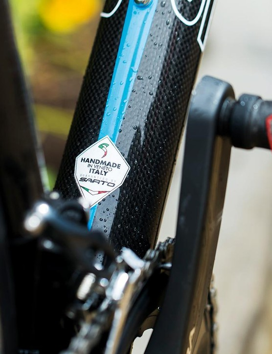 Made in Italy to your own specification – so if you don't like the look of the finished bike it's all your own fault