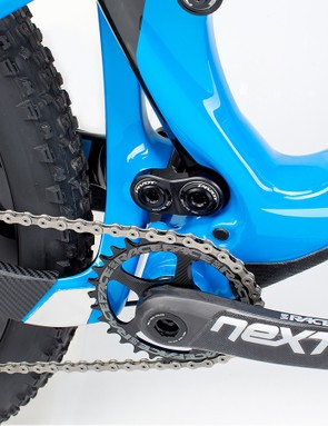 The 429 Trail tucks the lower dw-link behind the junction of the down tube and seat tube