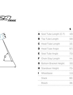 The Pivot 429 Trail has a slacker head tube angle and shorter chainstays than the 429 SL