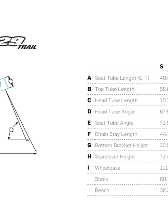 The Pivot 429 Trail has a slacker head tube angle and shorter chainstays than the 429 SL