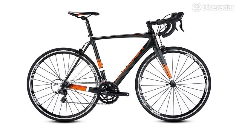Raleigh's Criterium Elite road bike is built around a handsome carbon frame