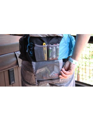 The Camelbak Palos 4 L has a tool pouch built into the pack