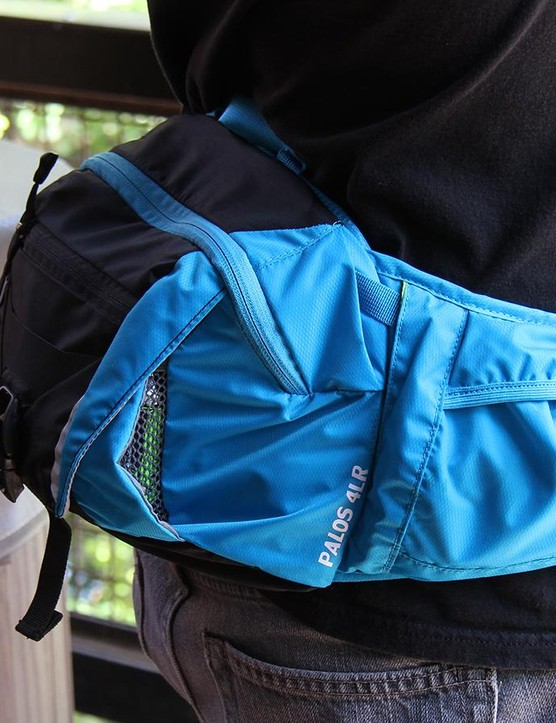 Camelbak's new Palos 4 L hip pack combines a 1.5l bladder with just enough storage space for quick rides
