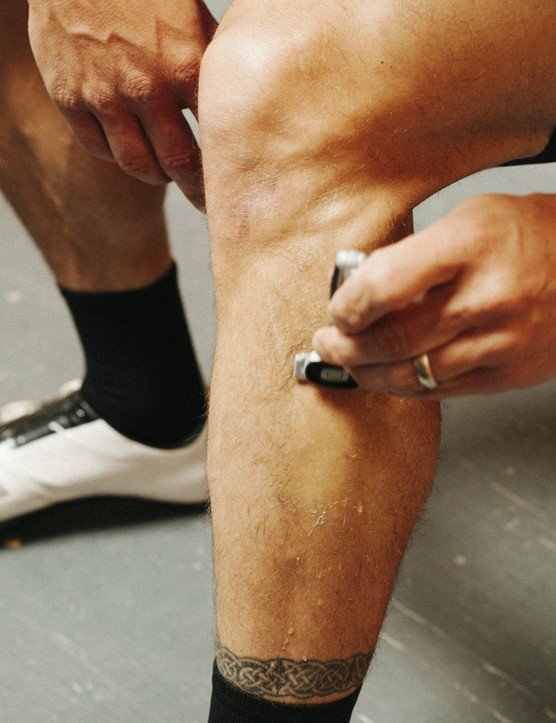 The battle against leg hair is a long, hard one for MAMILs