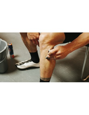 What kind of wind tunnel has a bucket, razor and shaving cream on hand? Specialized's, of course