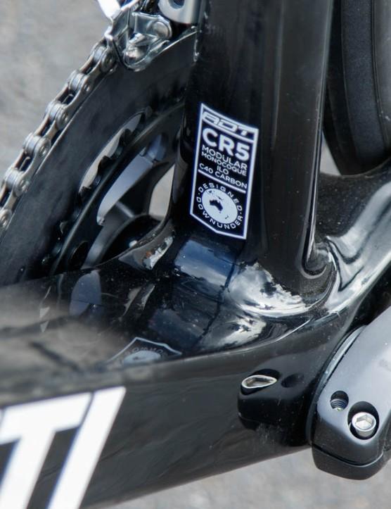 The Corsa ER's super wide bottom bracket junction should keep power transfer efficient