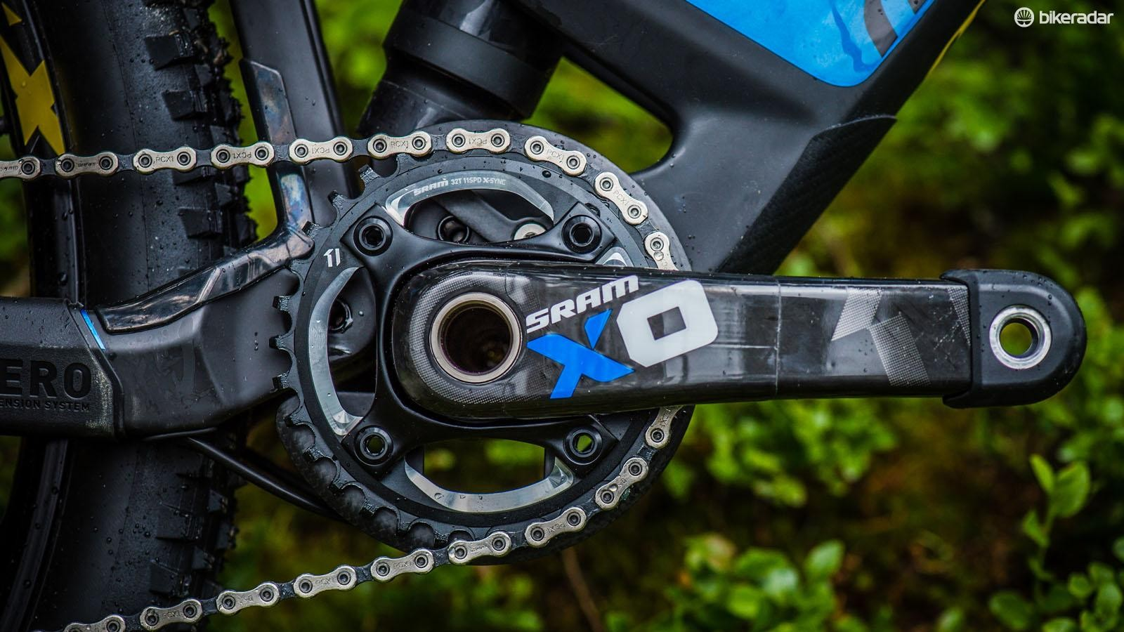 All models are 1x drivetrain specific, but the ISCG mounted carbon ring protector is a nice touch