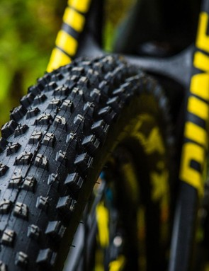 Lightly treaded Mavic rear tyres makes wet weather riding 'interesting' on the top end XR bike