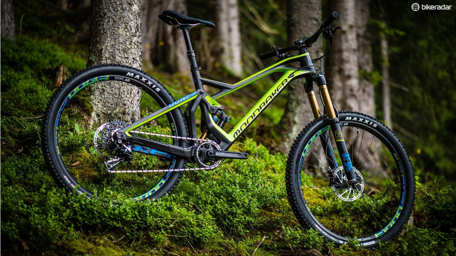 The second from top RR bike comes in at £5599 and 12.74kg, with less travel and adjustability than the XR thanks to  a 160mm Fox Float 36 FIT4 and Float X rear shock