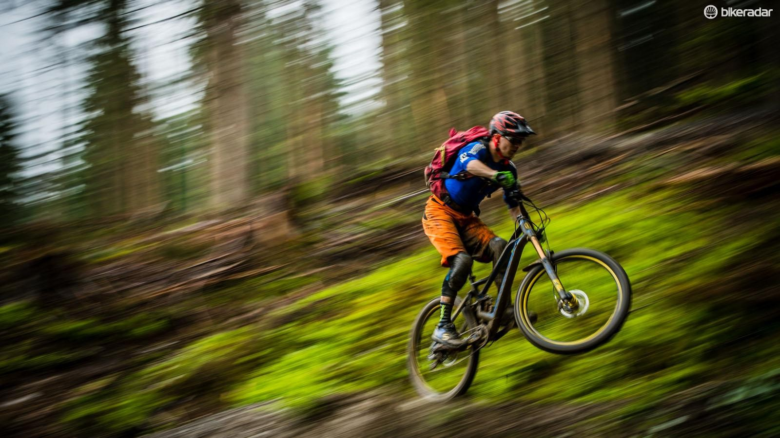 Iniital riding impressions are that the bike is a lightweight, progressively shaped enduro race killer with supportive suspension, especially in the top flight XR spec
