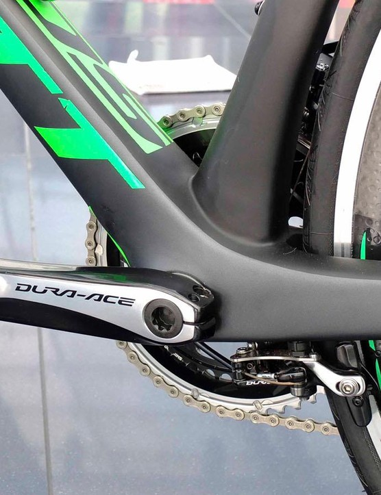 Keeping the seatstays free to flex, and reducing drag means the rear brake is beneath the chainstays
