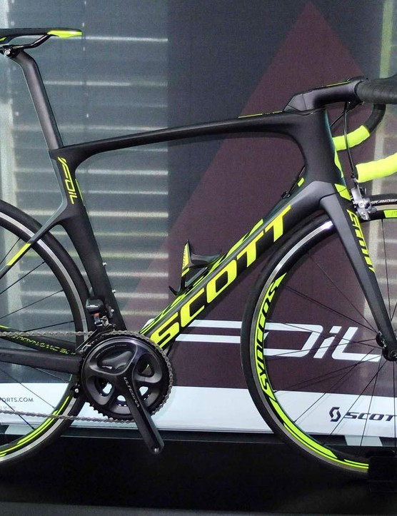 Mid-range is Scott's Foil 10, with HMF carbon frame, Ultegra Di2 and Syncros alloy wheelset