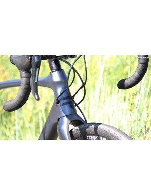 The cables are internally routed on Ridley's latest carbon model