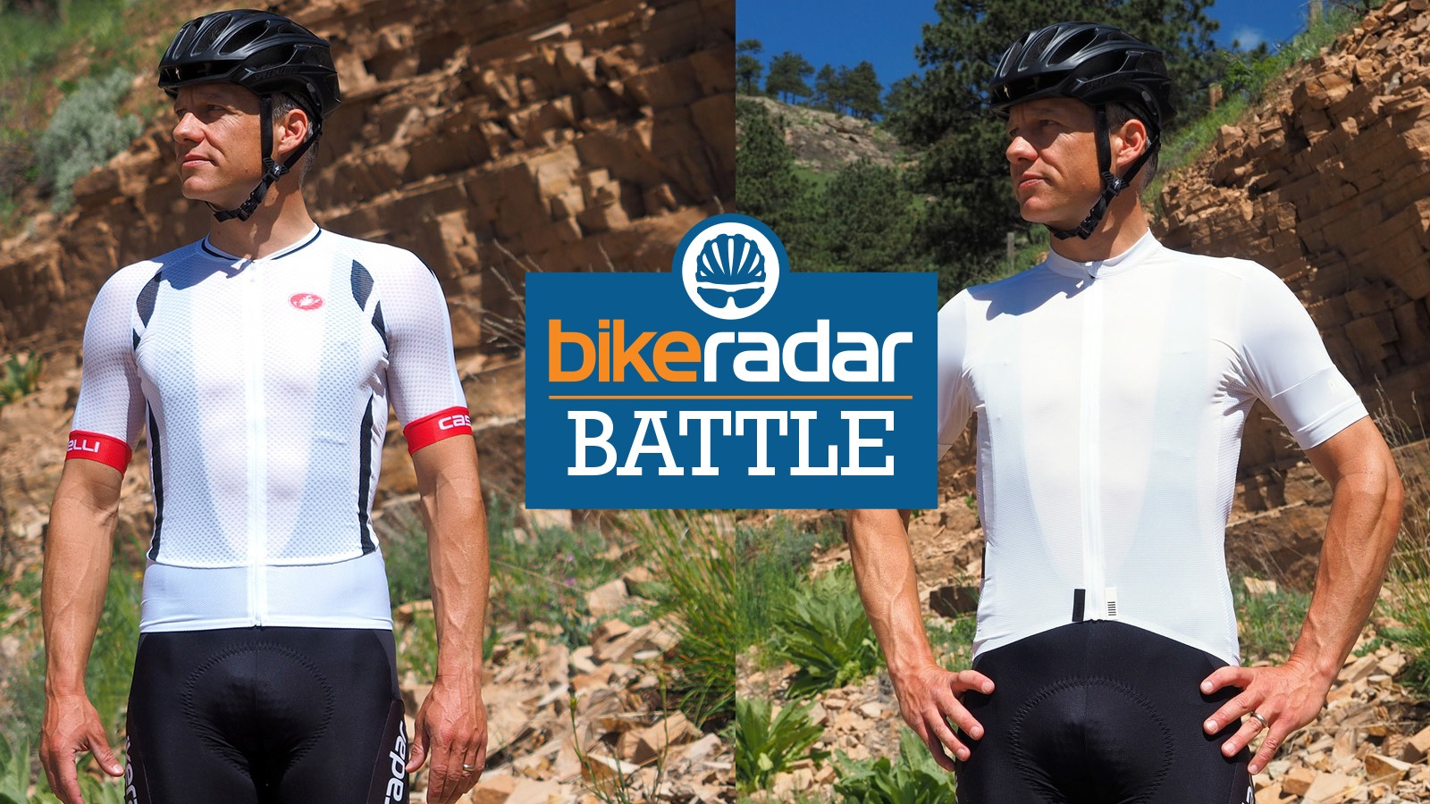 Although called climber's jerseys, both of these pieces should just as well be called hot-day jerseys