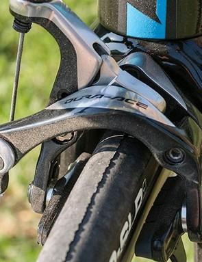 A full Dura-Ace Di2 groupset means you get these excellent calipers
