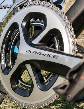 The Advanced and Pro models come with 52/36 semi-compact cranks but the Advanced gets a full compact 50/34 for easy climbing
