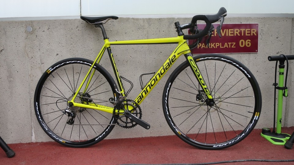 6181d38a306 The all-new Cannondale CAAD12 platform comes in both disc and standard  caliper brake form .