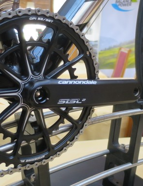 The SiSL2 cranks and 10-arm spider-ring on the EVO Black Inc.
