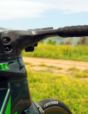 Trek says the new Madone's dedicated carbon cockpit by itself saves 37g of drag over a Bontrager XXX Aero bar and standard stem