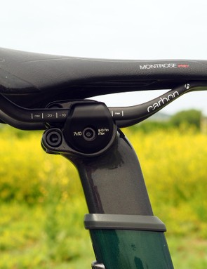 The new seatmast head features separate adjustments for fore-aft and tilt