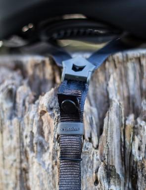 Lightweight straps are unobtrusive and quiet at speed