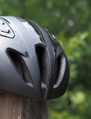 One of the keys to the Bontrager Ballista's surprisingly good ventilation is the trio of ports situated right up front