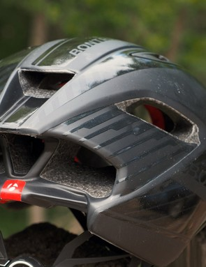 Six exhaust ports out back help air flow freely through the interior of the Bontrager Ballista