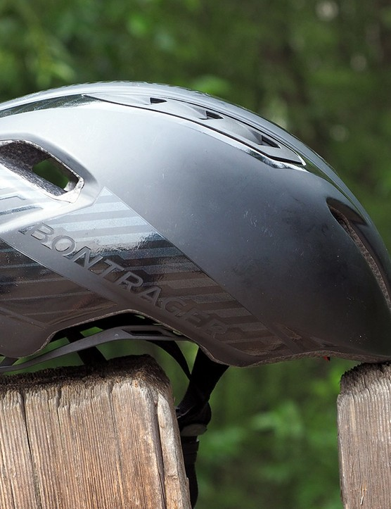 We can't say with certainty whether the new Bontrager Ballista aero road helmet resembles the Specialized S-Works helmet by intention or happenstance but that's no matter as long as it works. Plus, it's supposedly faster while offering better ventilation, too