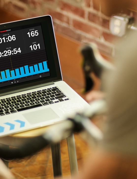 The Snap was designed to work with third-party training platforms like TrainerRoad