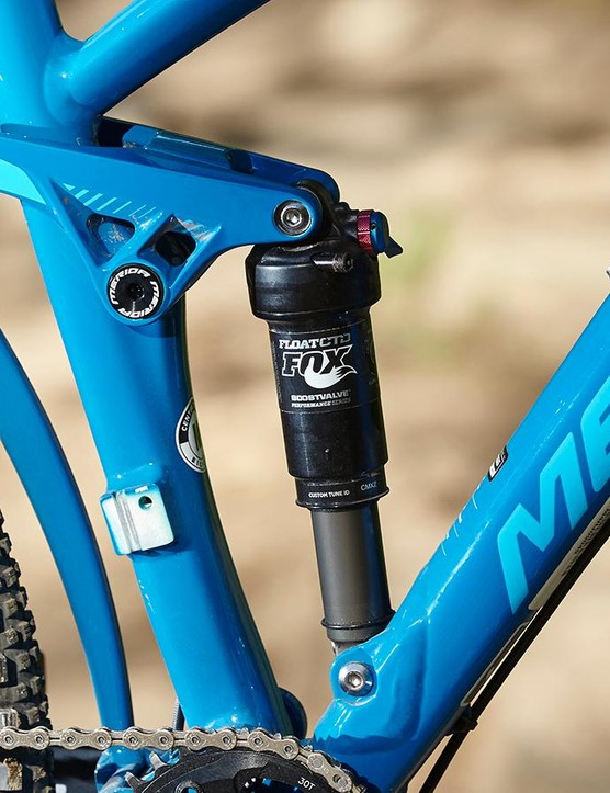The Performance series rear shock lacks the bling factor but works perfectly well
