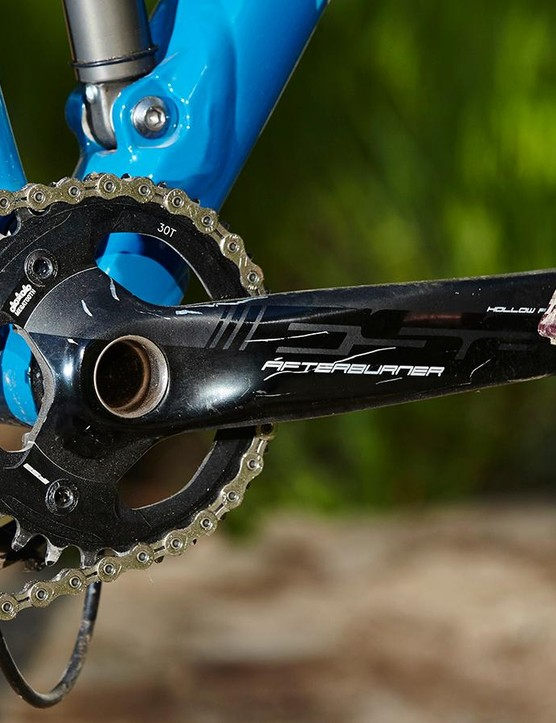 We'd change the chainring for singletrack bashing