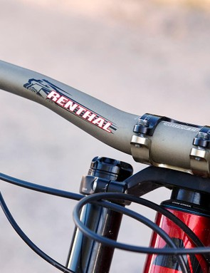 SRAM Guide brakes and a Renthal Fat Bar are present and correct