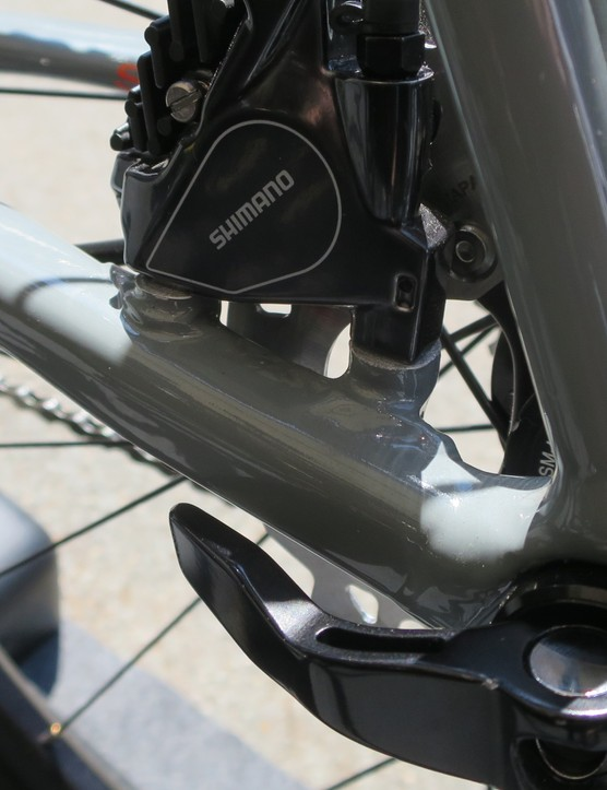 The rear flat-mount disc mounts are the same patented design as the new CAAD12 disc