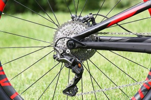 The Top Fuel sports a 1x11 speed drivetrain with an XTR rear derailleur and cassette