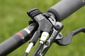 The RockShox full spring hydraulic lockout firms up the fork and shock for climbs and sprints