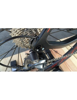 The rear end of the Agree SL disc uses the X12 standard thru-axle…