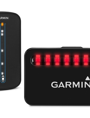 The Garmin Varia bike radar bundle detects vehicles approaching from behind