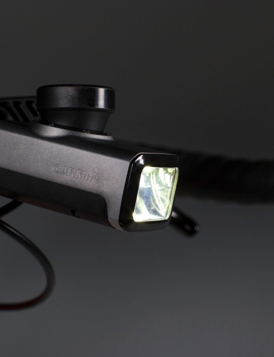 The Garmin Varia front light adapts its beam to the speed of the bike