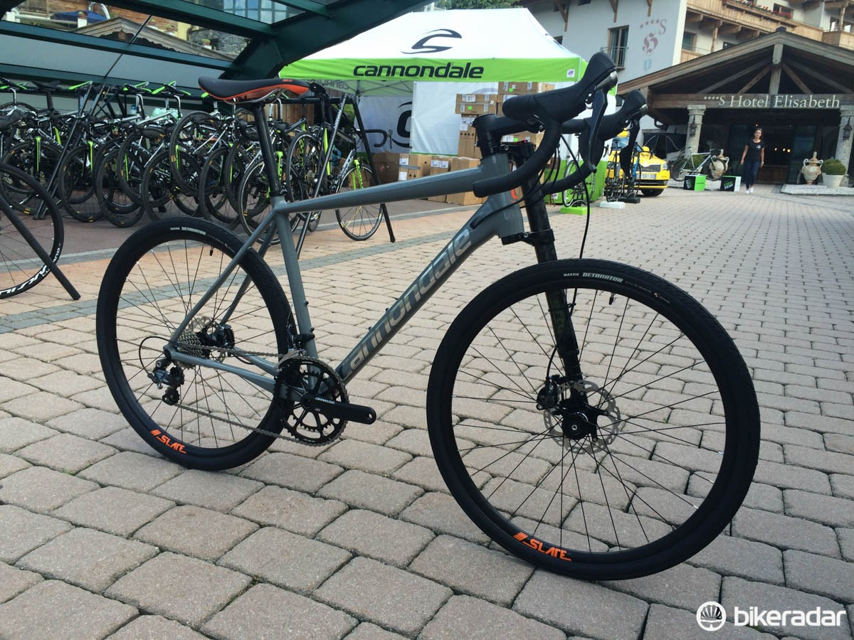 The new Cannondale Slate is the first road bike to feature its unique lefty fork design