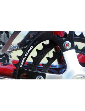 Triple cranks on their own are rare beasts today, never mind the relatively gargantuan 26/36/46-tooth chainrings