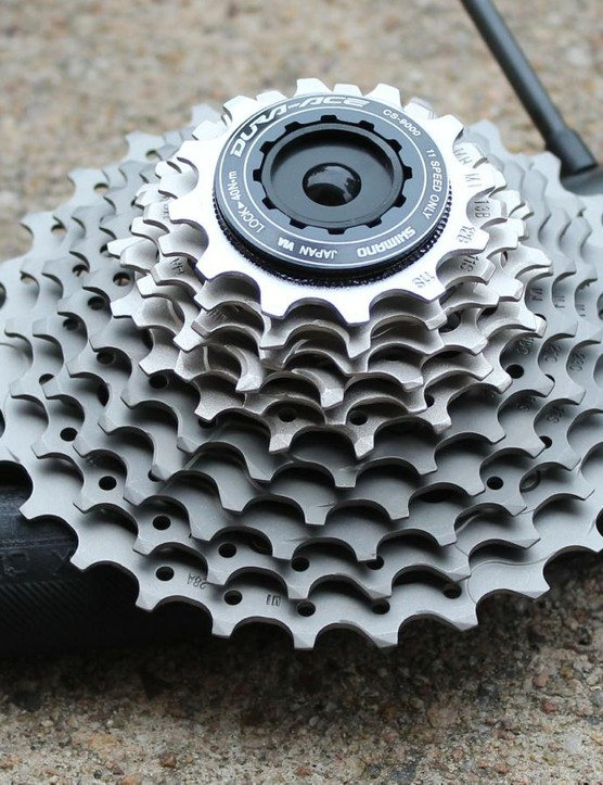 The Shimano Dura-Ace 9000 12-28t cassette