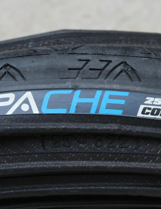 Vee's Apache clincher can handle dirt and gravel no problem, the company says