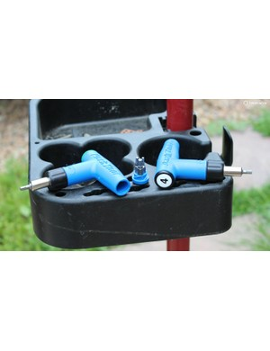 Park Tool has preset torque wrenches for 4, 5 and 6Nm with interchangeable heads of 3, 4 and 5 Hex plus T25 included