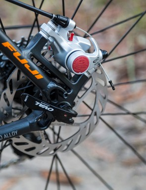 Avid's BB5 mechanical disc brakes are powerful and offer easy maintenance and adjustment