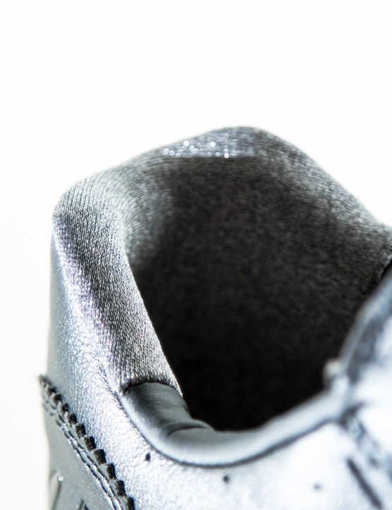 Popping up in more shoes is this proprietary one way silver thread that grips your sock, keeping your heel planted in the shoe