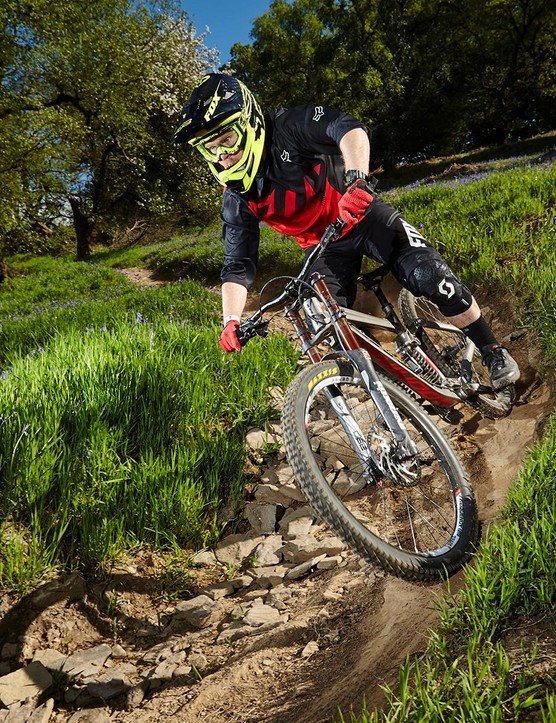 Maxxis's Super Tacky rubber compound delivers crucial grip in a mix of conditions